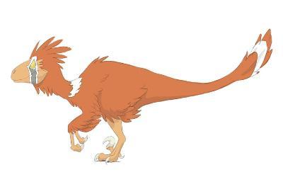 Deinonychus Pencil Drawing with Digital Color-Stocktrek Images-Art Print