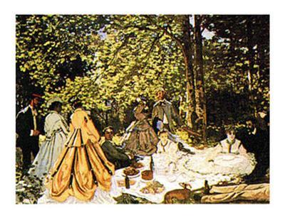 Dejeuner Sur l'Herbe-Claude Monet-Art Print