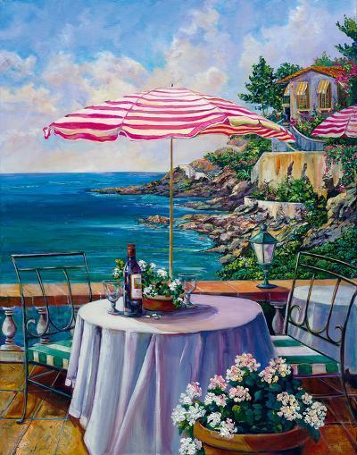 Dejeuner Sur La Cote D'azur II-Ginger Cook-Giclee Print