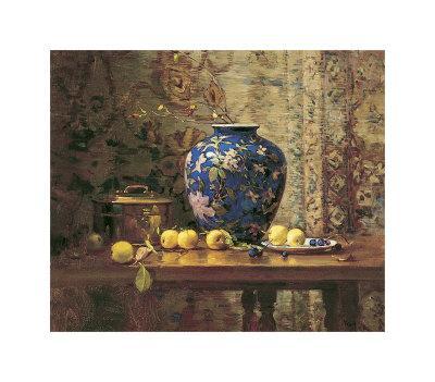 Oriental Vase with Crab Apples