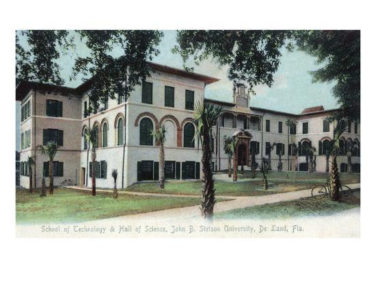 Deland, Florida - Stetson University, Hall of Science Building-Lantern Press-Art Print