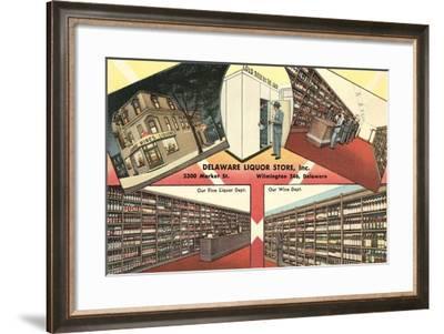 Delaware Liquor Store--Framed Art Print