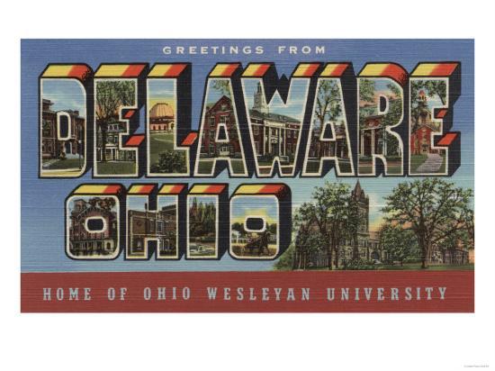 Delaware, Ohio - Wesleyan University-Lantern Press-Art Print