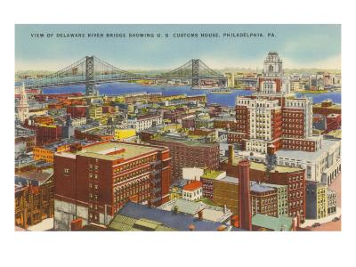 Delaware River Bridge, Philadelphia, Pennsylvania--Art Print