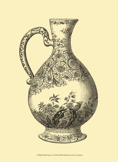 Delft Pottery I--Art Print
