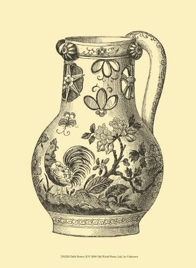 Delft Pottery II--Art Print