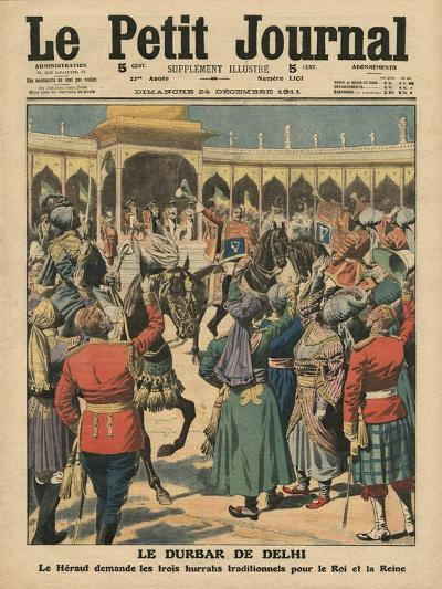 Delhi Durbar, Illustration from 'Le Petit Journal', Supplement Illustre, 24th December 1911-French School-Giclee Print