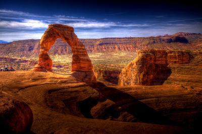 Delicate Arch HDR - Utah, USA-EvanTravels-Photographic Print