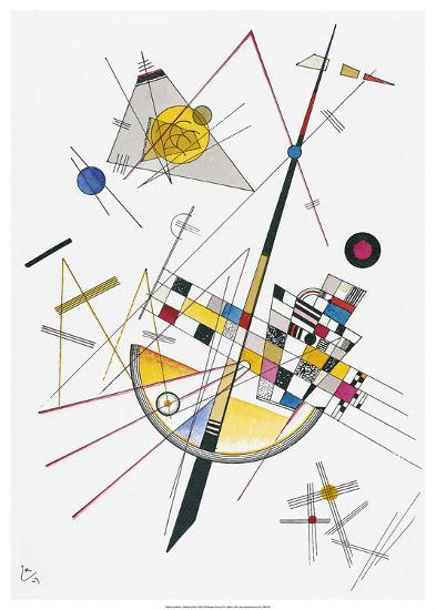 Delicate Tension (1923)-Wassily Kandinsky-Art Print