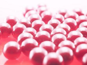 Delicious and Sweet Red Candy Gumballs