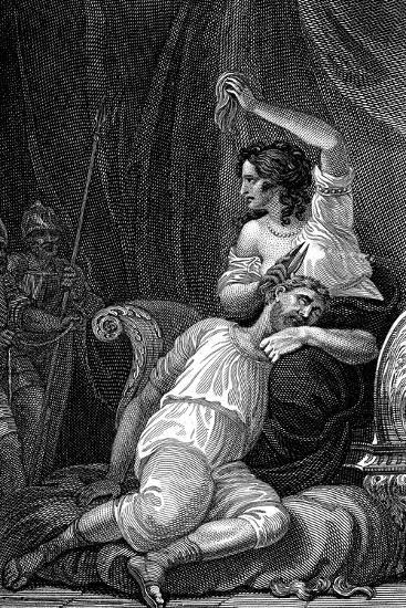 Delilah Cutting Samson's Hair, Thus Taking Away His Strength, 1820-William Marshall Craig-Giclee Print