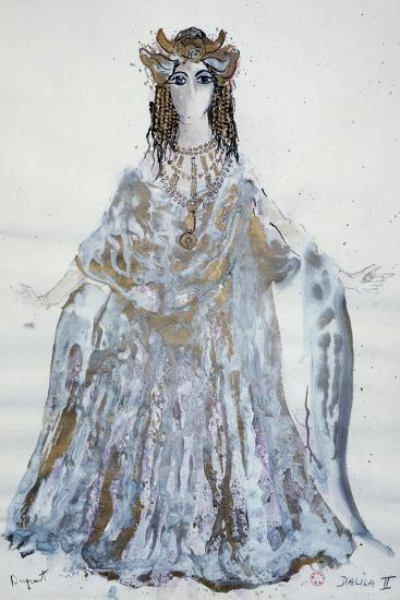 Delilah, Sketch of Costume for Samson and Delilah Opera-Charles Claude Pyne-Giclee Print