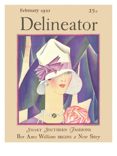 Delineator Front Cover, February 1927--Giclee Print