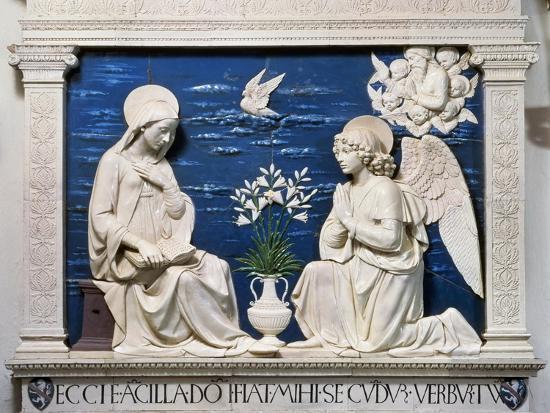 Della Robbia: Annunciation-Andrea Della Robbia-Giclee Print