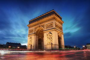 Arc De Triomphe Paris City at Sunset - Arch of Triumph by dellm60