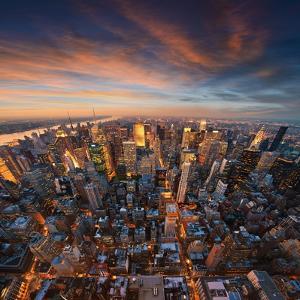 New York City Skyline at Sunset /Newyork by dellm60