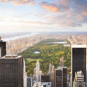New York Manhattan at Sunset - Central Park View by dellm60