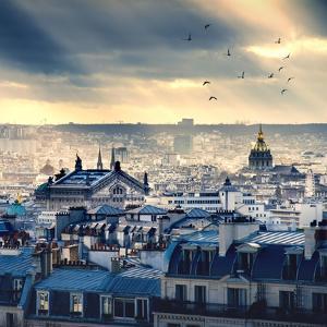 Paris Cityscape Taken from Montmartre by dellm60
