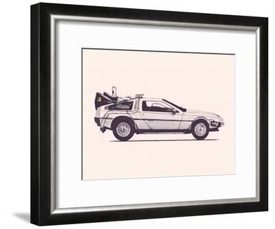 Delorean Back To The Future-Florent Bodart-Framed Art Print