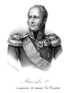 Alexander I (1777-182), Tsar of Russia from 1801, in Military Uniform, C1830 by Delpech