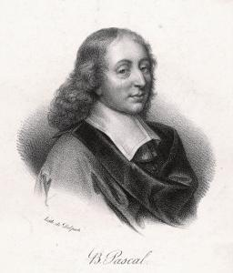 Blaise Pascal French Philosopher by Delpech