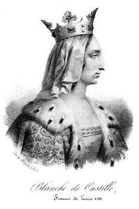 Blanche of Castile, Wife of Louis VIII of France by Delpech