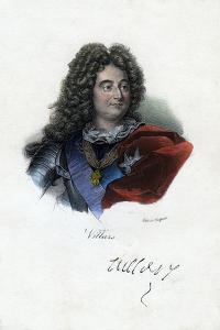 Claude Louis Hector De Villars, French General, (C19th Centur) by Delpech