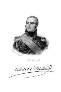 Etienne-Jacques-Joseph-Alexandre Macdonald, Duke of Taranto, French Soldier, C1820 by Delpech