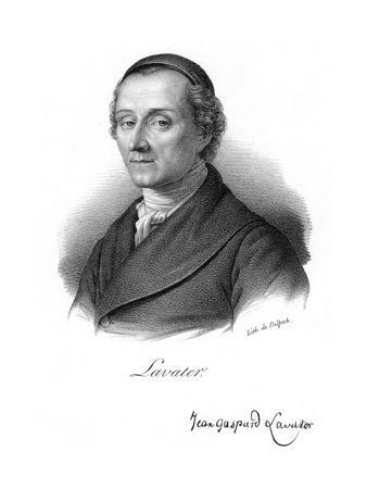Johann Kaspar Lavater, Swiss Physiognomist and Theologian, C1830