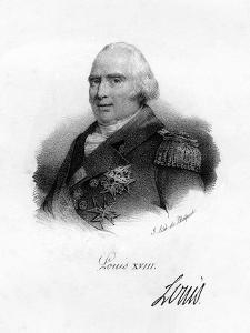 Louis XVIII, King of France, 19th Century by Delpech