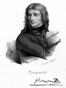 Napoleon Bonaparte as a Young Man, C 1790S by Delpech