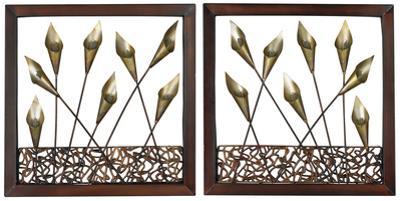 Delph Framed Metal Tulip Wall Panel Set