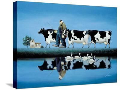 Delta Cows-Lowell Herrero-Stretched Canvas Print