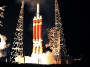 Delta IV Heavy Rocket Lifts Off