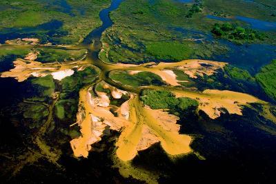Delta Water Receding-Howard Ruby-Photographic Print