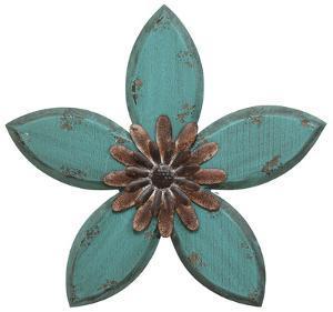 Delton Wall Flower - Teal