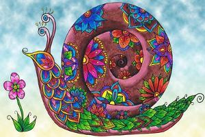 Snail Coloured by Delyth Angharad