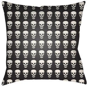Dem Bones Pillow - Black