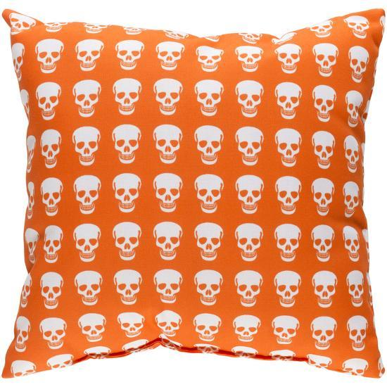Dem Bones Pillow - Orange--Home Accessories