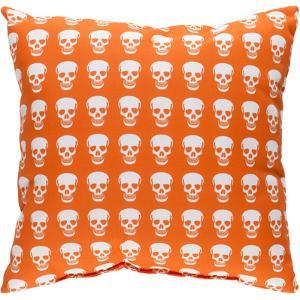 Dem Bones Pillow - Orange