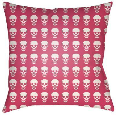 Dem Bones Pillow - Pink--Home Accessories