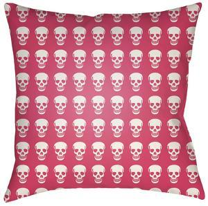 Dem Bones Pillow - Pink