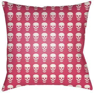Dem Bones Pillow - Pink