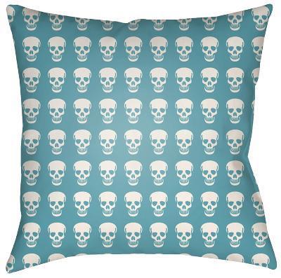Dem Bones Pillow - Teal--Home Accessories
