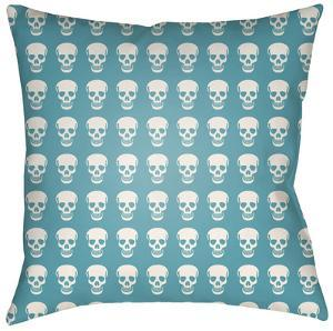 Dem Bones Pillow - Teal