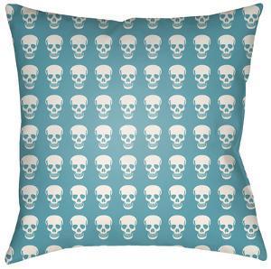 Dem Bones Pillow - Teal