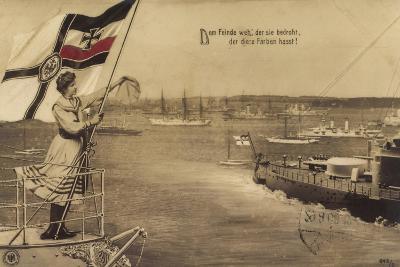Dem Feinde Weh Der Sie Bedroht, Propaganda, Schiffe--Giclee Print