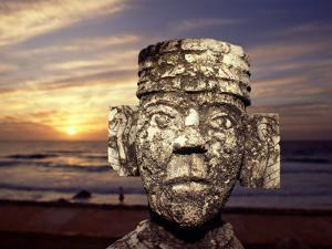 Chacmool Statue, Cancun, Mexico by Demetrio Carrasco