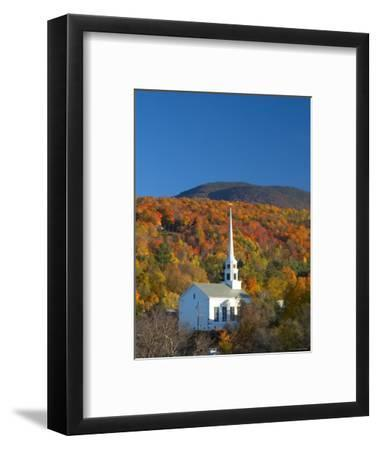 Church at Stowe, Vermont, New England, USA