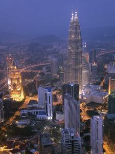 Petronas Twin Towers from Kl Tower, Kuala Lumpur, Malaysia by Demetrio Carrasco